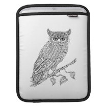 Inspired Magic Owl Sitting On Branch Sleeve For iPads