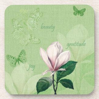 Inspired Magnolia Floral Drink Coaster