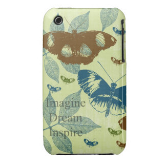 Inspired Natural Butterflies iPhone 3 Case