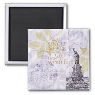 Inspired New York Liberty 2 Inch Square Magnet