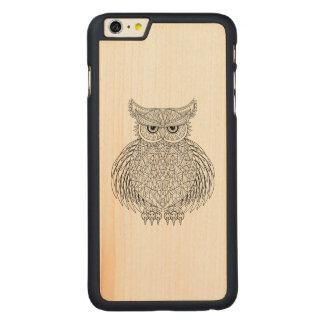 Inspired Owl Bird Totem Carved Maple iPhone 6 Plus Slim Case