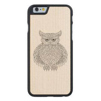 Inspired Owl Bird Totem Carved Maple iPhone 6 Slim Case