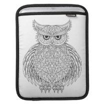 Inspired Owl Bird Totem iPad Sleeve