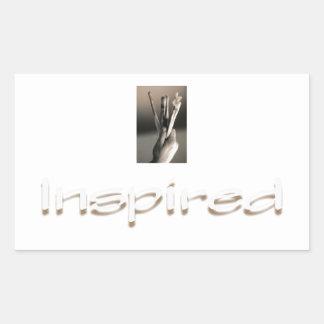 Inspired Painter or Artist Rectangular Sticker