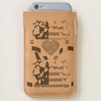 Inspired patriotic Creative Heart Electronics art iPhone 6/6S Case