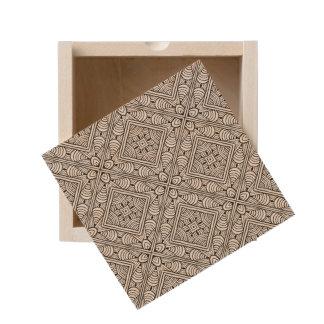Inspired Pattern Wooden Keepsake Box