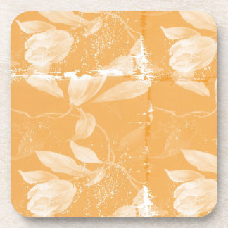 Inspired Peach Floral Coaster