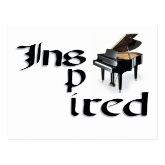 Inspired Piano Postcard