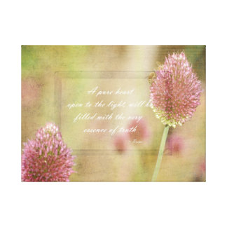 Inspired Pink Floral with Rumi Quote Canvas Print