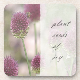 Inspired Plant Seeds of Joy Floral Coaster