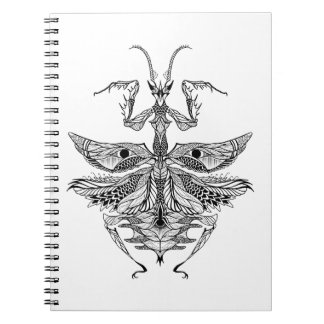 Inspired Praying Mantis Notebook