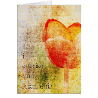 Inspired Red Tulip Card