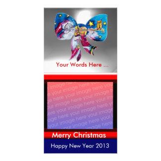 INSPIRED SANTA CHRISTMAS BOW PHOTO CARD