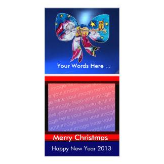 INSPIRED SANTA CHRISTMAS BOW PHOTO CARDS