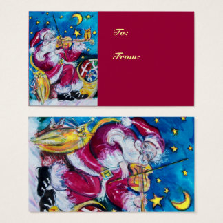 INSPIRED SANTA Christmas Night Red Blue Business Card
