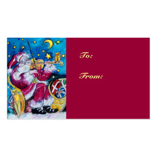 INSPIRED SANTA  /  Musical Christmas Night Double-Sided Standard Business Cards (Pack Of 100)