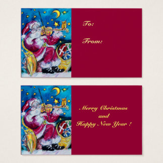 INSPIRED SANTA  /  Musical Christmas Night Red Business Card
