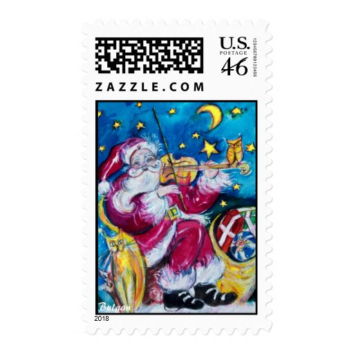 INSPIRED SANTA POSTAGE STAMPS