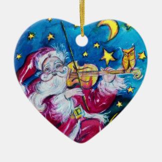 INSPIRED SANTA Red Ruby Gem Stone Heart Ceramic Ornament