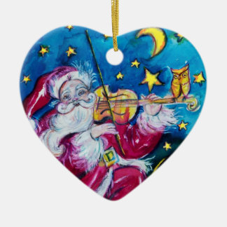 INSPIRED SANTA Red Ruby Gem Stone Heart Christmas Tree Ornament