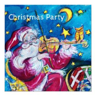 INSPIRED SANTA VIOLINIST CHRISTMAS PARTY INVITE