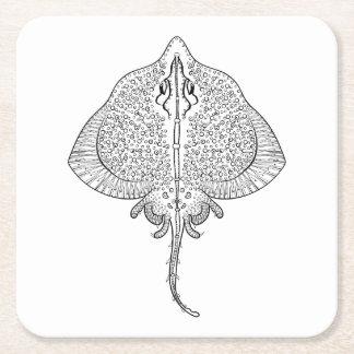Inspired Stingray Totem Square Paper Coaster
