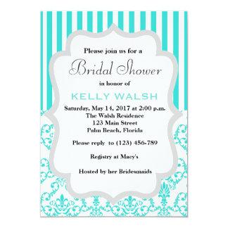 Inspired Tiffany White Bow Bridal Shower Invite