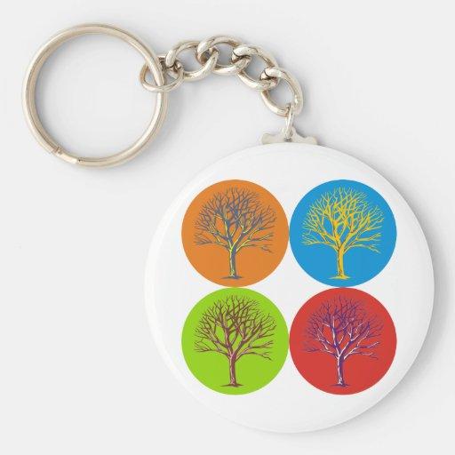 Inspired Trees Basic Round Button Keychain