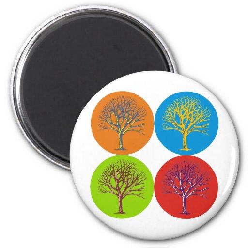 Inspired Trees Refrigerator Magnet