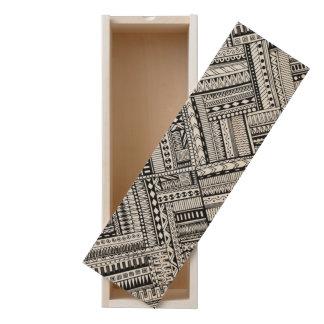 Inspired Tribal Art Pattern Wooden Keepsake Box