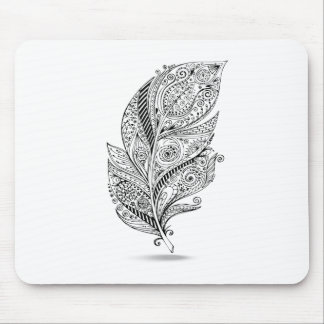 Inspired Tribal Feather Mouse Pad
