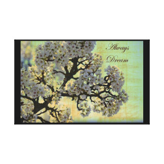 Inspired White Flowering Tree Stretched Canvas Print