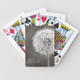 Inspired Wish Dandelion Bicycle Playing Cards