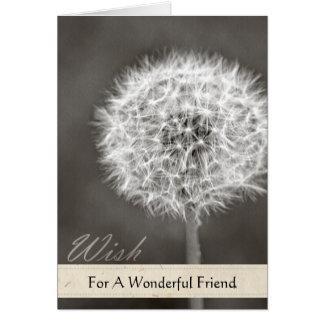 Inspired Wish Dandelion Greeting Card