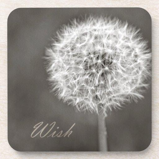 Inspired Wish Dandelion Drink Coaster