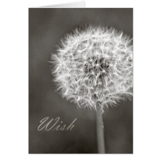 Inspired Wish Dandelion Greeting Card