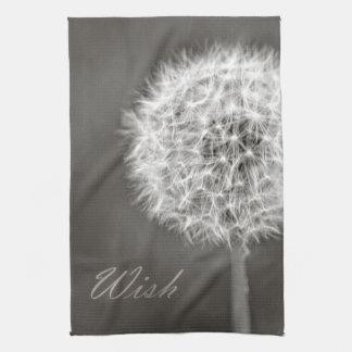 Inspired Wish Dandelion Hand Towels