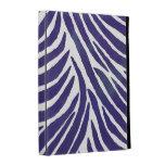 Inspired Zebra Print  Purple iPad Folio Cover