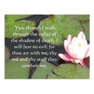 inspiring bible scripture Psalm 23:4 Postcard