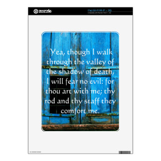 inspiring bible scripture Psalm 23:4 iPad Decals