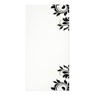 Inspiring black floral on light yellow card