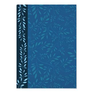 Inspiring Blue floral leaves Card