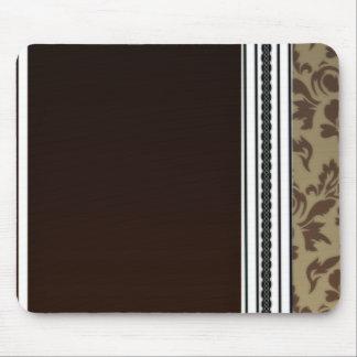 Inspiring Brown Damask Pattern Mouse Pad