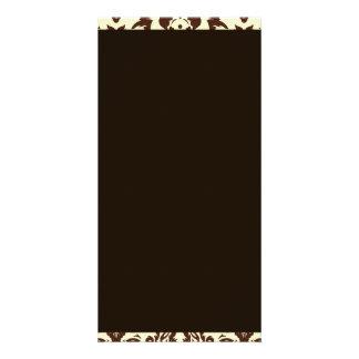 Inspiring Brown Paisley Pattern Card