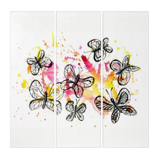 Inspiring butterflies triptych