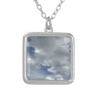 Inspiring Cloudscape Silver Plated Necklace
