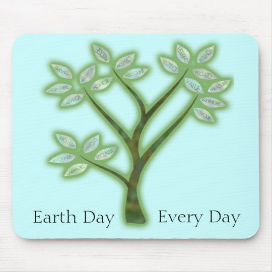 Inspiring Earth Day Tree Mouse Pad