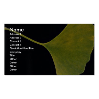 Inspiring Ginkgo leaf Double-Sided Standard Business Cards (Pack Of 100)