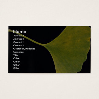 Inspiring Ginkgo leaf Business Card