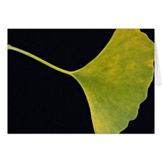 Inspiring Ginkgo leaf Greeting Card